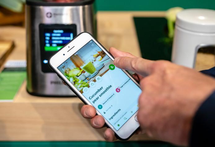 De nieuwe connected blender van Philips, werkt met een app.