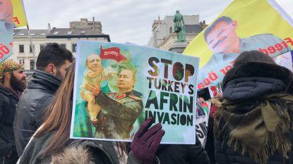 Week lang dagelijkse betogingen van Koerden in Brussel tegen geweld in Afrin