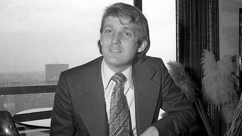 Donald Trump in 1976, hij is dan dertig.