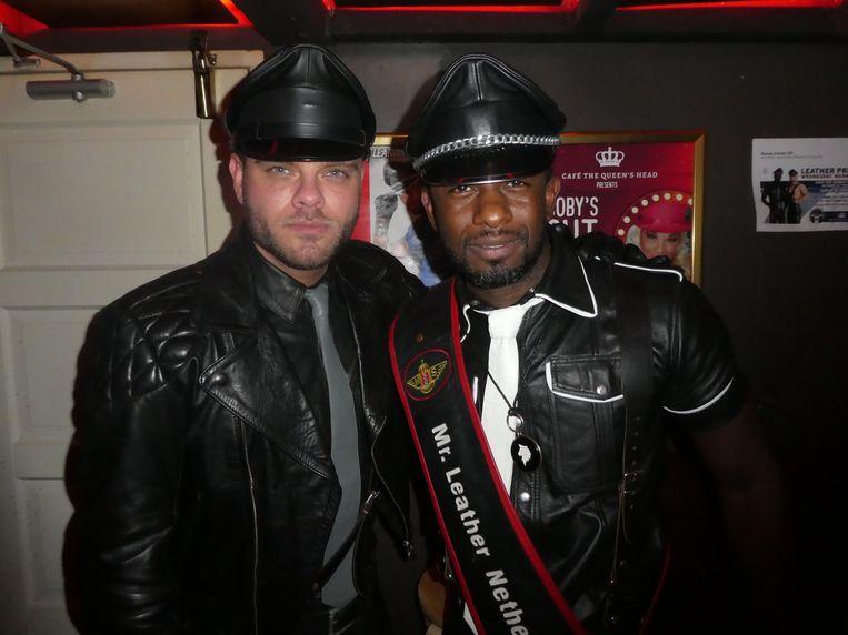 Robin Weegink, partner van Axe Leito, nog heel even Mr. Leather Nederland. Hij was op Curaçao en de Prides in Meppel, Geldrop en Bunschoten. Beeld Hans van der Beek