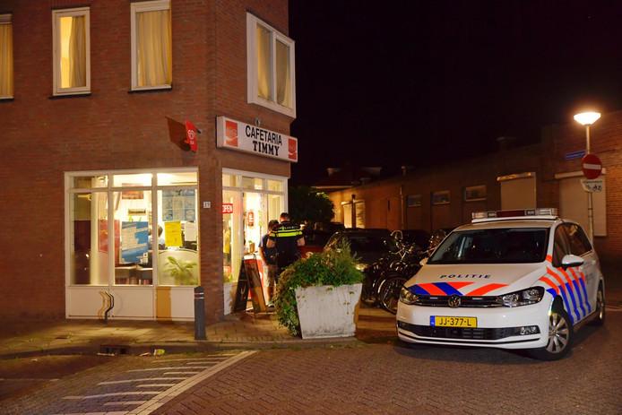 Overval op cafetaria Timmy in Tilburg.