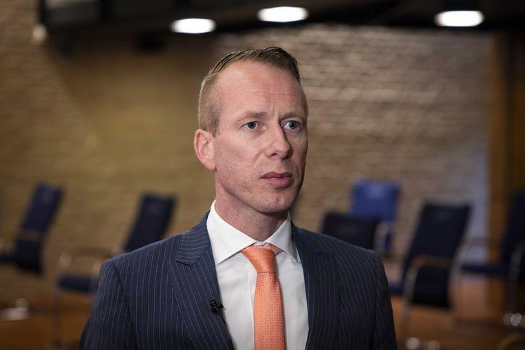 Burgemeester Cees van den Bos van Urk.  Beeld ANP