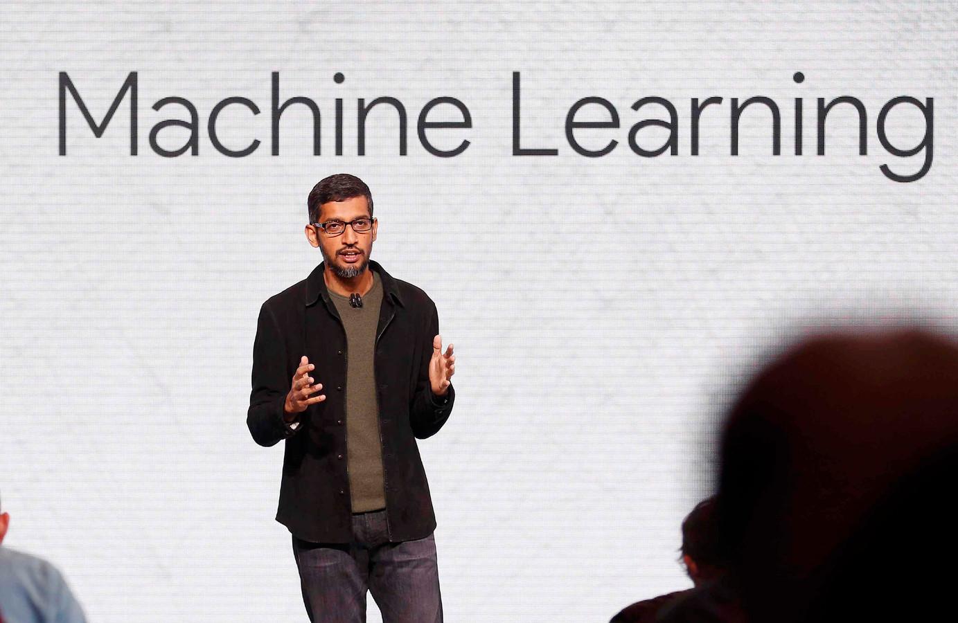 Sundar Pichai ziet kunstmatige intelligentie en zelflerende machines als de grootste kans die de mensheid komende decennia heeft.