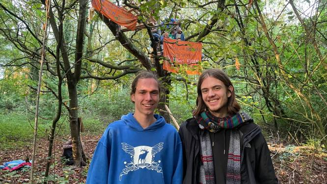 """Studenten slaan tenten op in Sterrebos UGent: """"4.000 vierkante meter bos rooien? Niet met ons!"""""""