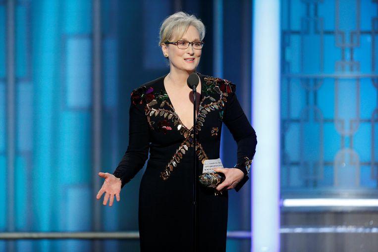 Meryl Streep werd vannacht gelauwerd om haar rijk gevulde acteercarrière. Beeld REUTERS