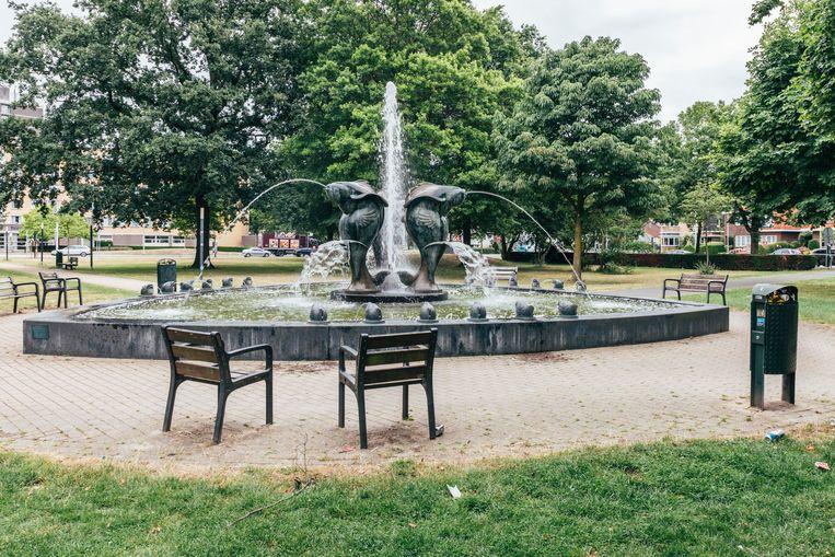 Fontein van Ger Janssen in het Julianapark in Venlo Beeld Rebecca Fertinel