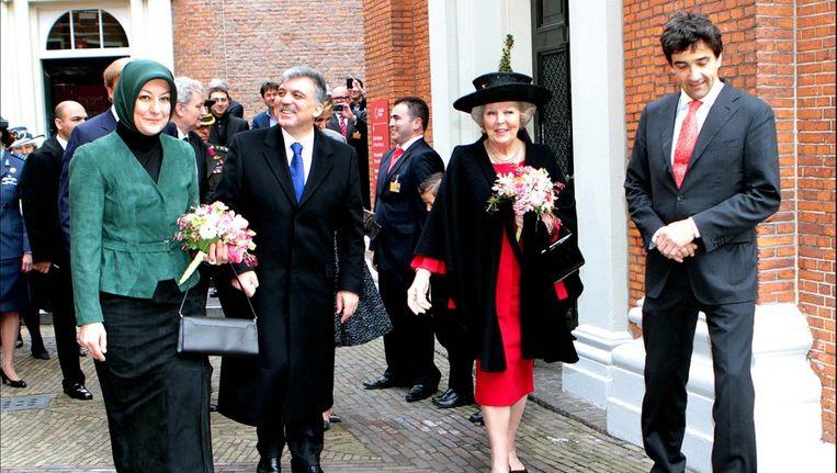 President Gül met koningin Beatrix. Beeld photo_news
