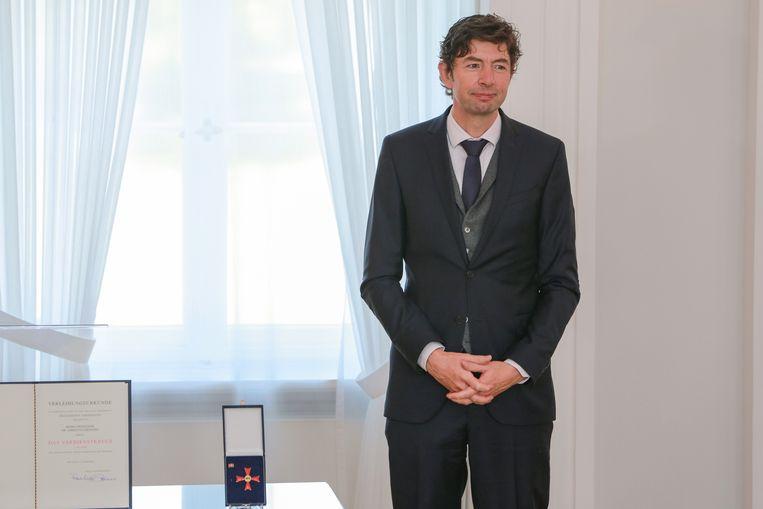 Christian Drosten kreeg deze week een Bundesverdienstkreuz, de Duitse ridderorde. Beeld EPA