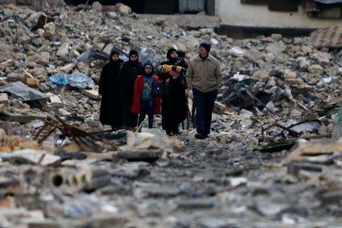 Oost-Aleppo zoals het er vandaag uitziet.