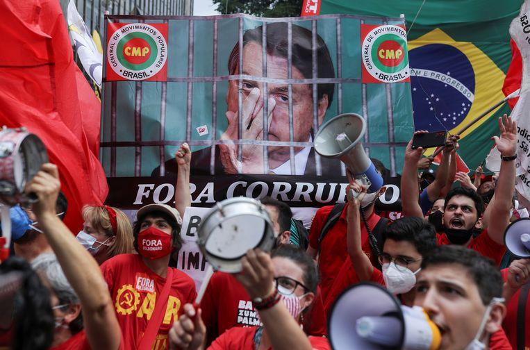 Betogers in São Paulo. Beeld REUTERS