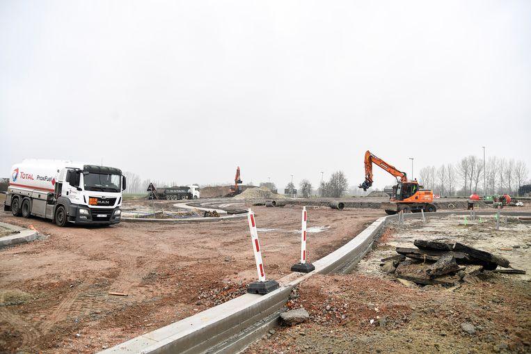 De werken van de Hamsesteenweg schieten goed op.