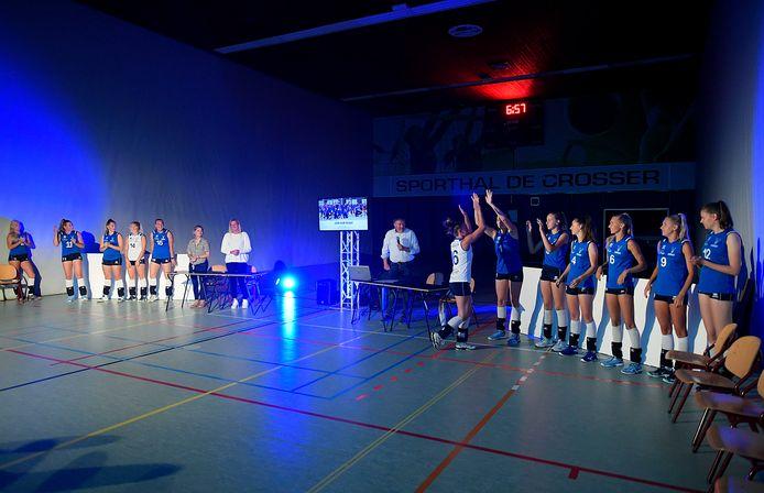 Sfeerbeeld tijdens de officiële presentatie van de selectie van Voltena, die volgend seizoen in de eredivisie uitkomt.