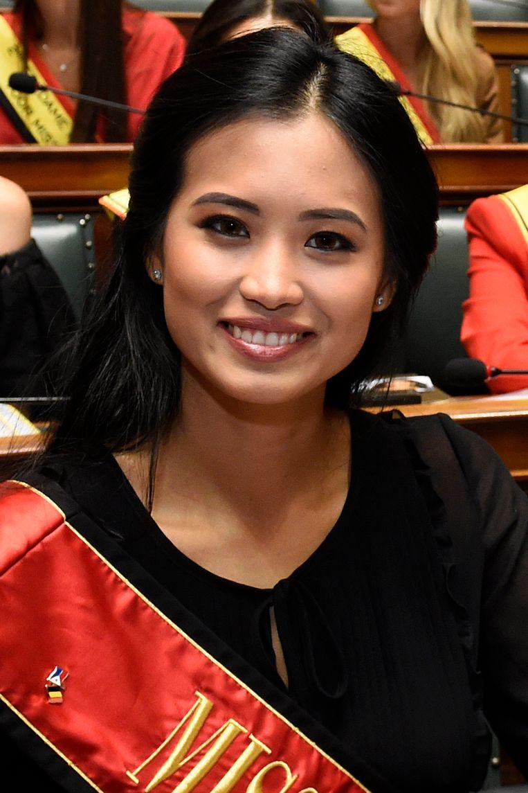 Angeline Flor Pua, de huidige Miss België.  Beeld Photo News
