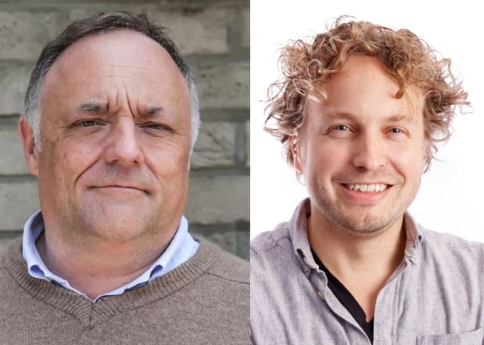 Viroloog Marc van Ranst (links) moest onderduiken omdat iemand het op zijn leven had gemunt. Flink wat Belgen praatten die bedreiging nog goed ook, zag columnist Niels Herijgens.