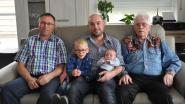 Dubbel mannelijk viergeslacht bij familie D'Hondt
