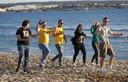 Duitse toeristen op het strand van El Arenal.