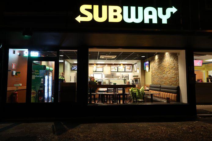Overval op de Subway aan de Aalsterweg in Eindhoven.
