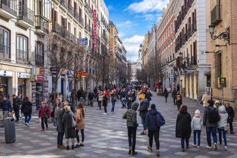 Calle del Arenal in Madrid. Beeld © Konrad Zelazowski