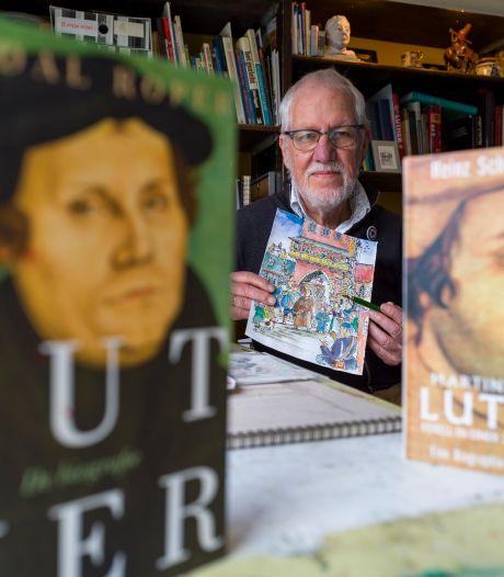 Heerdenaar Bernard Bos tekent fascinatie voor 'rebel' Maarten Luther op in magazine