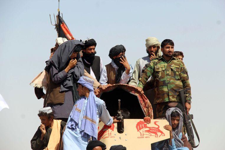 Taliban-militanten in Afghanistan. Beeld EPA