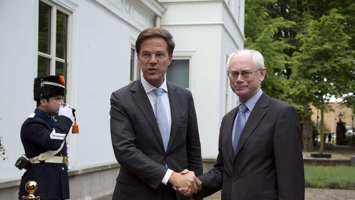 Premier Rutte vandaag met de voorzitter van de Europese Raad Herman van Rompuy.