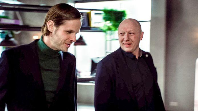 Bert Verbeke en Hans Bonte op de set van Lisa.