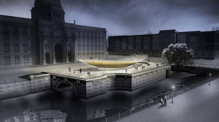 Het nieuwe monument voor de Duitse eenheid roept weerstand op. Beeld Creative Commons 3.0, Milla&Partner