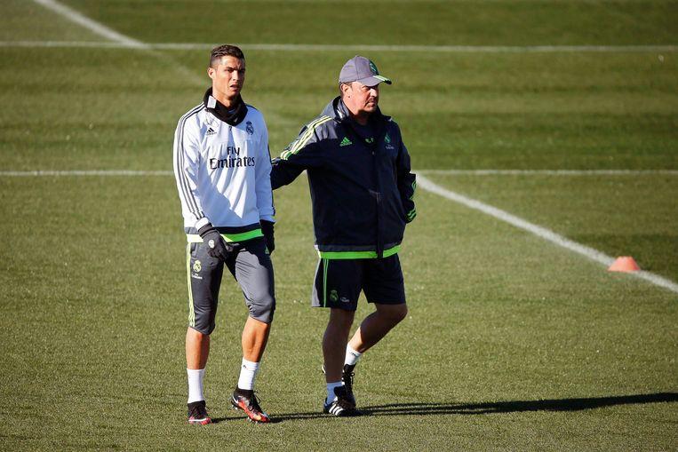 Benítez had nooit een connectie met de ploeg, zeker niet met sterspeler Cristiano Ronaldo Beeld EPA