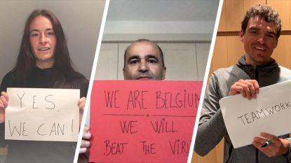 """""""Wij zijn België. Wij zullen het virus verslaan"""": topsporters- en trainers allemaal #SAMENTEGENCORONA"""