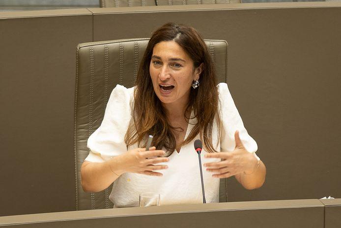minister van Energie Zuhal Demir (N-VA) in het Vlaams parlement.