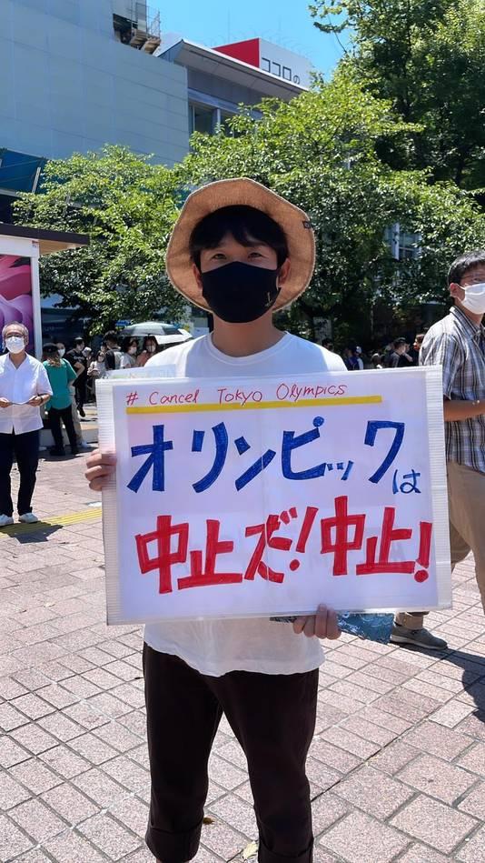 Demonstrant in hartje Tokio
