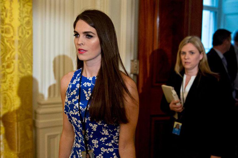 Hope Hicks in januari in het Witte Huis Beeld epa