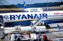 Vliegtuigen van Ryanair op Eindhoven Airport