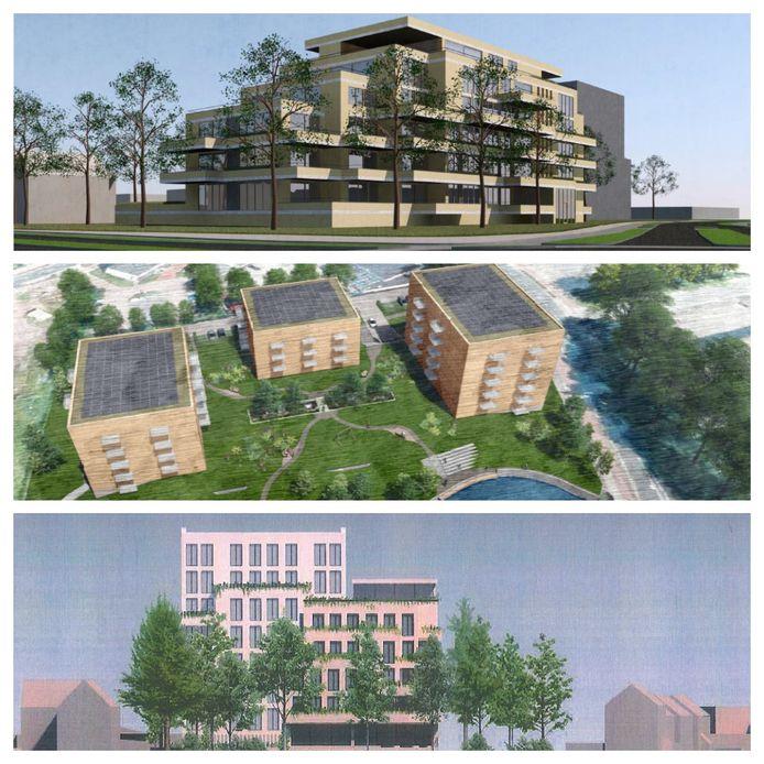 Schets appartementen terrein ZuidZorg
