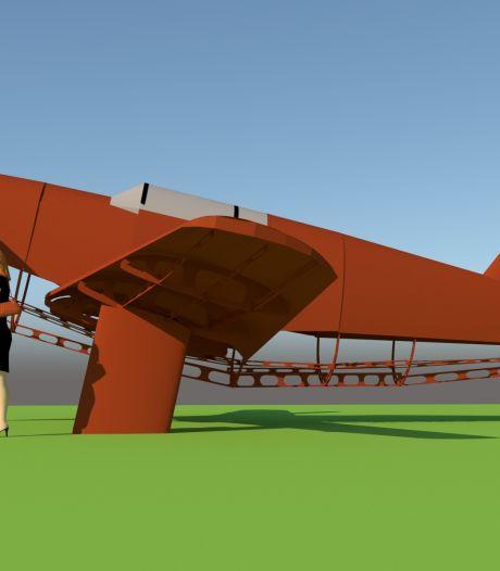 Schijnvliegtuig keert terug bij Kamp de Kiek in Riel, nu als kunstwerk