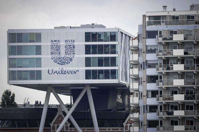 Foto ter illustratie. Het hoofdkantoor van Unilever in Rotterdam.