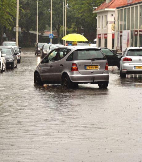 Wateroverlast door onweersbuien in zuiden, oosten en noorden van het land