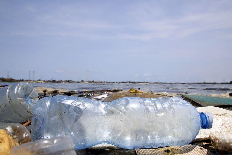 19 procent van het wegwerpplastic belandt als zwerfafval in de natuur of in de zee. Beeld EPA