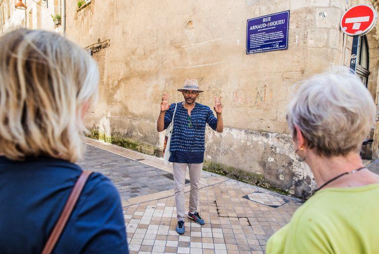 Op de Rue Arnaud-Miqueu. Beeld Aurélie Geurts