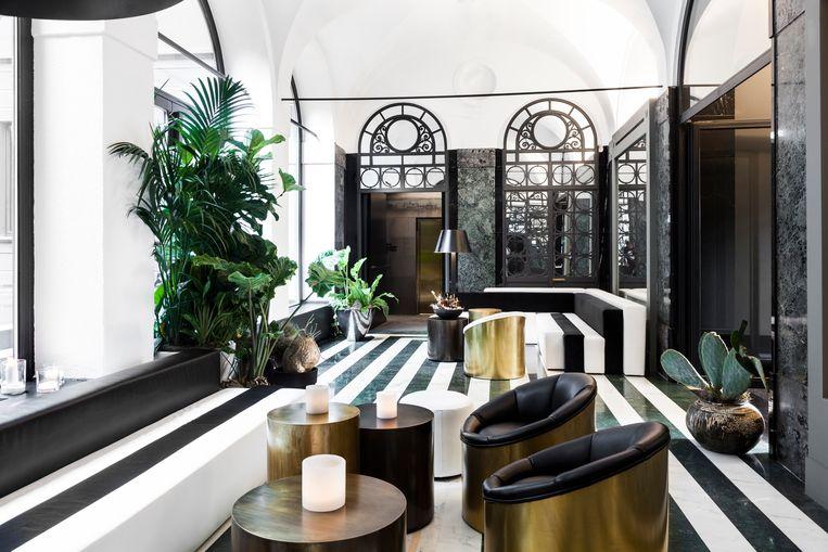 Het Senato Hotel liet meubels op maat ontwerpen door Alessandro Bianchi. Beeld rv