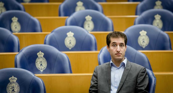 Farshad Bashir (SP) tijdens een Tweede Kamerdebat.