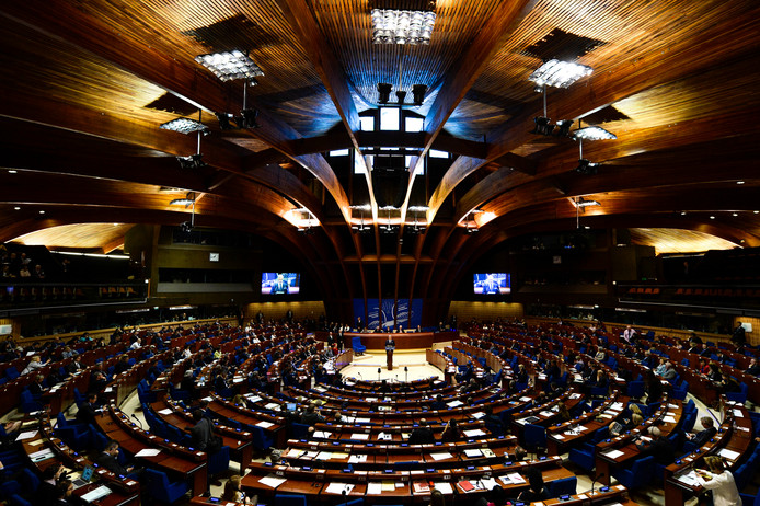 De Raad van Europa in Straatsburg.
