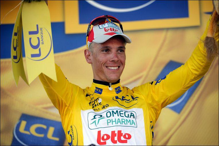 Gilbert met de gele trui in 2011.