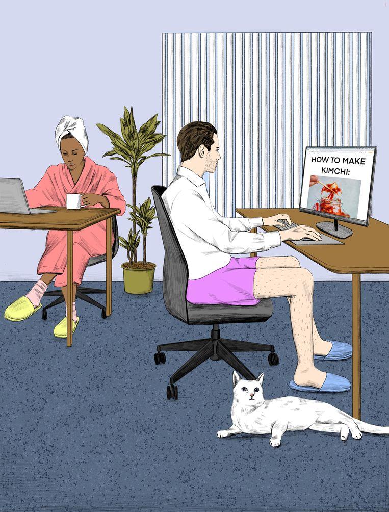 De hoogleraar benadrukt dat werk meer is dan louter 'leveren'. Beeld Jip van den Toorn