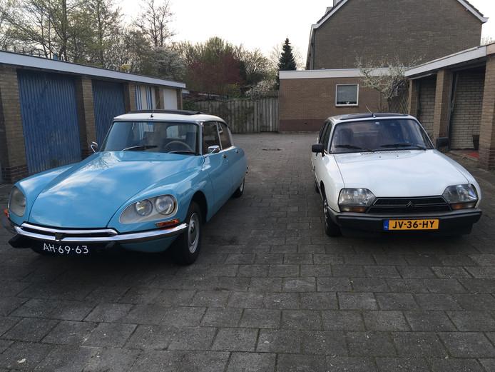 Een Citroën DS en een Citroën GSA.