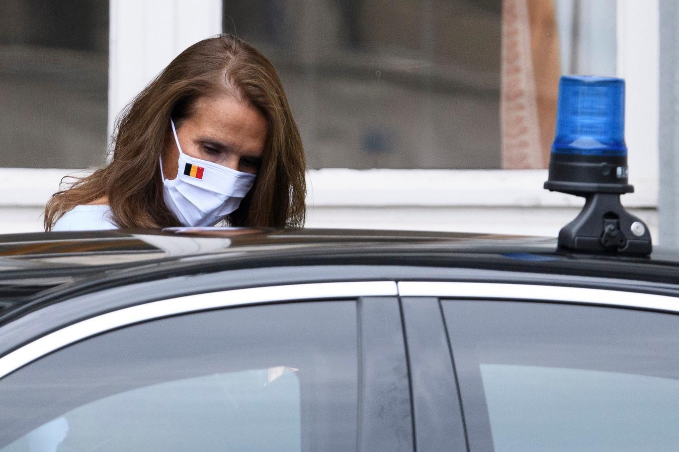 Sophie Wilmès à son arrivée au CNS ce jeudi matin