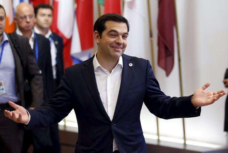 Grieks premier Alexis Tsipras na afloop van het mislukte topoverleg. Beeld REUTERS