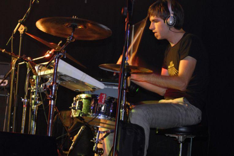 Drummer Frans van Gastel Beeld