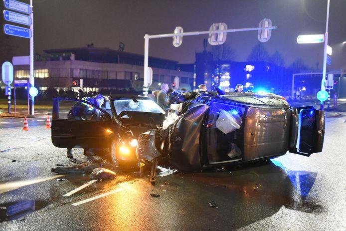 Eén persoon raakte gewond bij de crash in Nieuwegein.