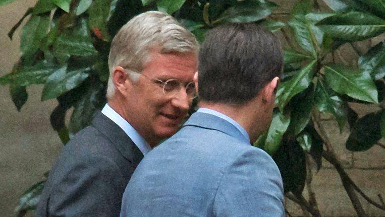 Koning Filip in het gezelschap van N-VA-voorzitter Bart De Wever. Beeld PHOTO_NEWS